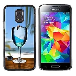 LECELL -- Funda protectora / Cubierta / Piel For Samsung Galaxy S5 Mini, SM-G800, NOT S5 REGULAR! -- Cute Sea Star Ocean Glass --