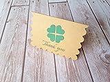 2.5'' x 3.5'' Mini Shamrock Cards with Envelope / Shamrock Thank you cards / Mini Thank You Enclosures / Set of 12