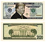 American Art Classics Donald Trump 2020 Re-Election Presidential Dollar Bill - Limited Edition Novelty Dollar Bill. Full Color Front & Back Printing with Great Detail