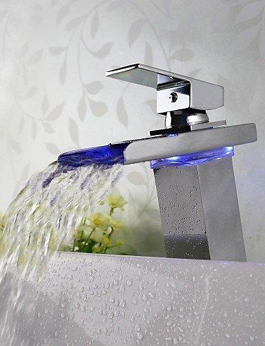 Zeitgen?ssischen ti-PVD-Finish ein Loch Doppelgriff Waschbecken Wasserhahn
