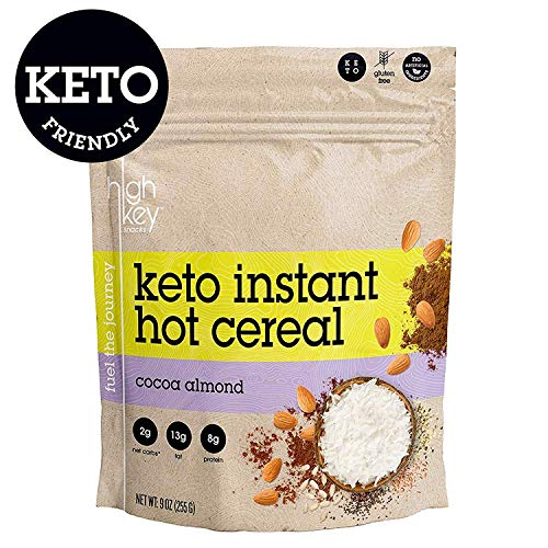 (HighKey Snacks Keto Instant Hot Cereal Breakfast - Gluten & Grain Free - Perfect Ketogenic Friendly Food - Low Carb, High Protein - Good for Desserts, Atkins & Diabetic Diets)