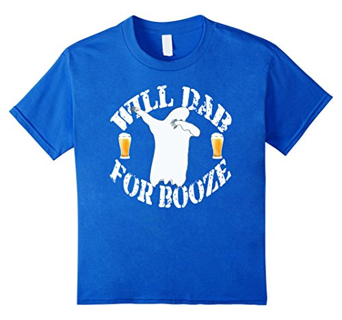 [Kids Dabbing Ghost Shirt Funny Halloween Costume Dab For Booze 12 Royal Blue] (Play On Words Costume Ideas Of Halloween)