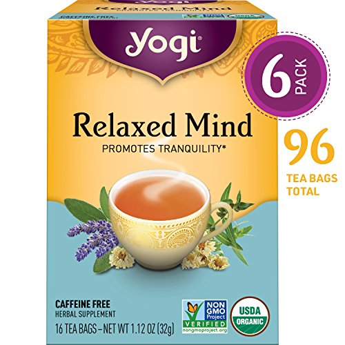 Yogi Tea - Relaxed Mind - Promotes Tranquility - 6 Pack, 96 Tea Bags Total