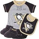 Pittsburgh Penguins NHL Infant Bodysuit Bib Booties Set (3-6m)