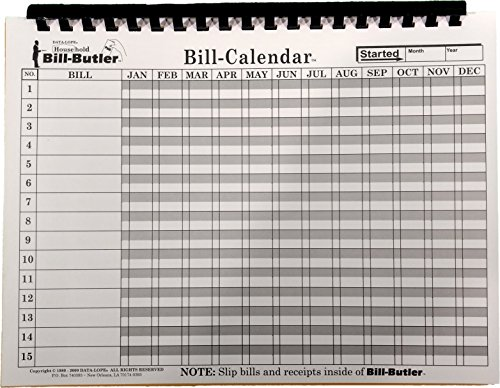 Amazon.Com : Bill-Butler Monthly Household Bill Organizer : Office