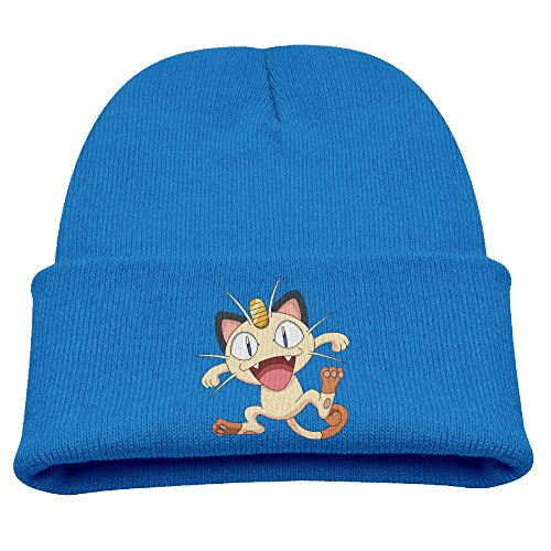 Babala Funny Meowth Boys And Girls Knitted Beanie Cap Hat Winter Skullcap Top Hat RoyalBlue
