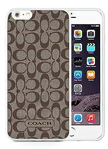 iPhone 6 Plus 5.5 inch Coach 61 White TPU Phone Case Unique and Luxury Design