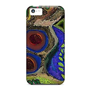Tough Iphone QFo35446eMkn Cases Covers/ Cases For Iphone 5c(abstract Hidden Horse)