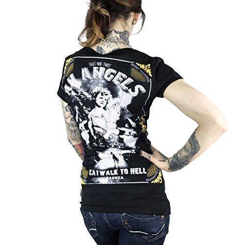 Yakuza Mujeres Ropa superior / Camiseta An Angels negro