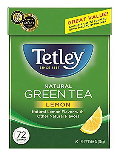 Tetley Green Tea, with Lemon, 72 Tea Bags (Pack of 6) (Packaging may vary)