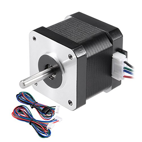 uxcell Stepper Motor Nema 17 Bipolar 24mm 0.38NM 0.4A 6.2V 4 Lead Cables for 3D Printer CNC Router Laser Lathe Machine Stage Light Control DIY Hobby