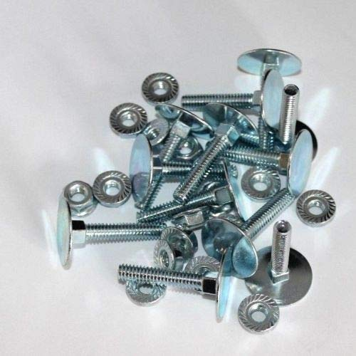 Box Truck Door Elevator Bolts and Nuts for Hinges, Brackets - Fasteners, 10 Pack