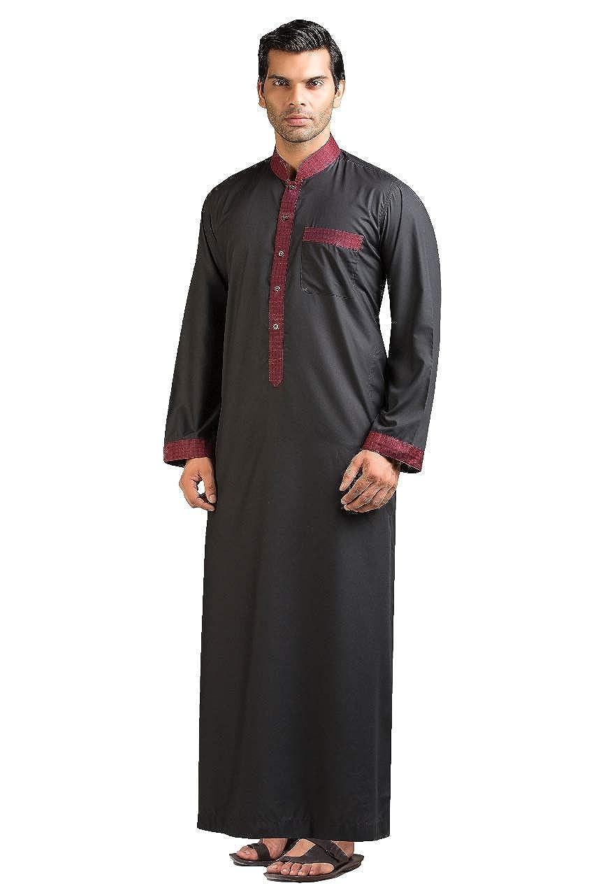 1a1768fa23 Hussn Mens Thobe/Kaftan Kamani-Islamic Clothing Jubba for Men-Muslim Thobes