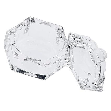 B Blesiya Jarra Redonda Tarros de Almacenaje Frascos de Vidrio Botella de Esmalte de Uñas -