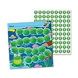 Wholesale CASE of 25 - Carson Frogs Student Progress Incentive Chart-Mini Incentive Chart, Frog, 660 Pieces/PK, Multi-Color