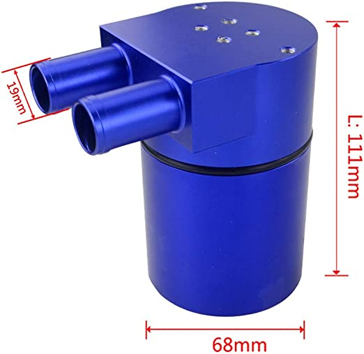 WPFC Aluminum Alloy Reservior Oil Catch Can Tank for BMW N54 335 BLACK Red And Blue PQY-TK60 SILVER