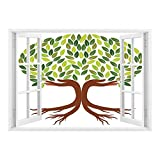 Best Modern Fantasy Hand Wraps - SCOCICI Window Mural Wall Sticker/Tree of Life,Symbolic Eco Review