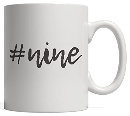 9th Birthday Kid Mug Gift Hashtag Milestone Nine 9