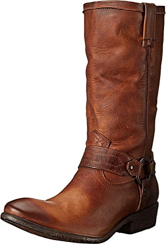 B FRYE Women's Boot Washed Antique Cognac Harness Carson 6 5 up M Pull wPqwCROx