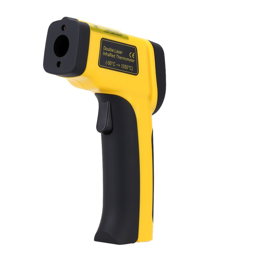 Digital Infrared Thermometer Double Laser High Precision IR Temperature Gauge Tester Pyrometer -50-1050C(-58-1922Fahrenheit) by Digital Infrared Thermometer (Image #3)