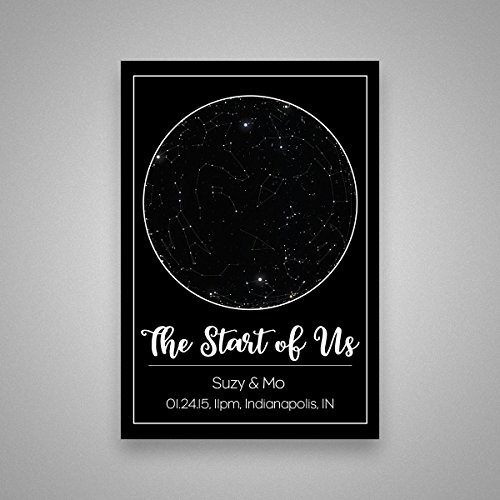 Constellation Chart (Custom Personalized Star Constellation Map, Star Chart, Choose Your Occasion, Custom Engagement Anniversary Present, Cool Gift Idea, Night Sky Poster 13x19)