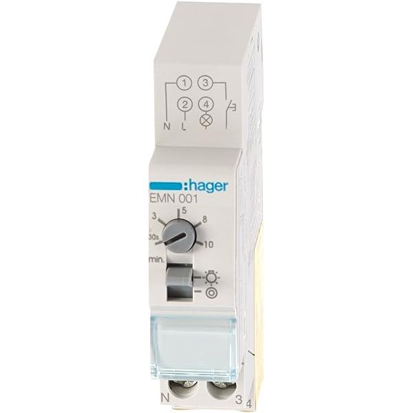 Hager EMN001 - EMN001 - Minutero de escalera 16A, 230V: Amazon.es: Industria, empresas y ciencia