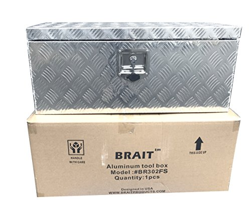 Brait BR30F Aluminum Tool Box for ATV Storage Truck Pickup RV (Silver)