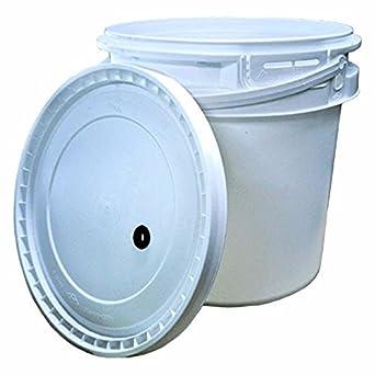 Amazoncom 2 Gallon Plastic Fermenter W Drilled Lid Industrial