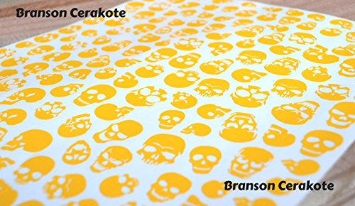 Skull Camo Firearm Vinyl Stencil for High Heat Application, Cerakote, Duracoat, Krylon, Avery Dennison (Stock Vinyl)