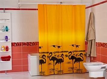 Wohnideen Shop wohnideenshop flamingo duschvorhang textil 180cm breit x 200cm lang