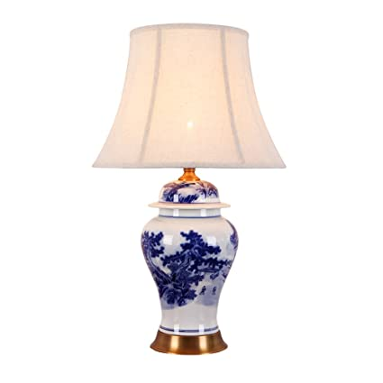 Amazon etern chinese ceramics table lamp 38 62cm living room etern chinese ceramics table lamp 38 62cm living room bedroom high end pure copper lamps aloadofball Images