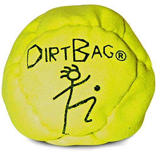 World Footbag Dirtbag Hacky Sack Footbag, Neon Yellow (Filled Hacky Sack)