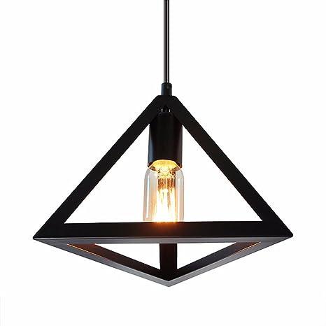 AOLOR Hierro triangular Lámpara colgante de Techo ...