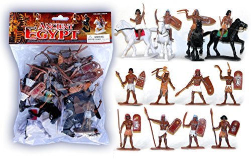 Plastic Toy Soldiers Ancient Egyptian Infantry Ancient Egypt Figures Painted Set 1/32 Scale 16 Pieces by (Toy Soldiers Infantry Set)