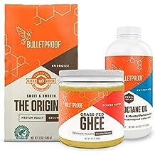 Bulletproof Starter Kit, 12oz Ground Original Roast Clean Coffee, 16oz Ketogenic Brain Octane Oil, 13.5oz Grass-Fed Ghee, Perfect For Keto Diet