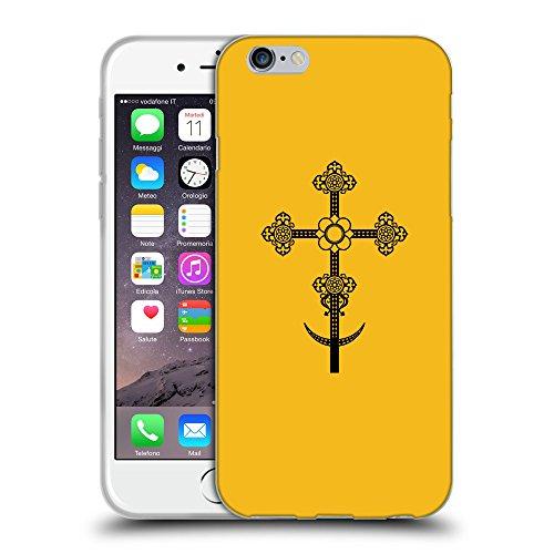 GoGoMobile Coque de Protection TPU Silicone Case pour // Q07860602 Christian Cross 11 ambre // Apple iPhone 7