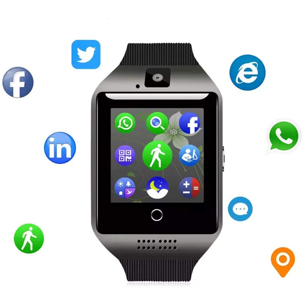 5483874b017985 Smartwatch with Camera & Music Remote for Android - Smart Watch Fitness  Tracker with Heart Rate
