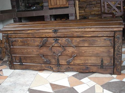 Amazon.de: Massive Handgemachte Holzkiste Truhe Box Holz ...