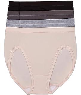 af327f8b0ec9 Hanes Women's 5 Pack Microfiber Hi-Cut at Amazon Women's Clothing store: