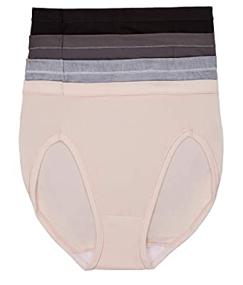 fb1570ad377 Cool Comfort Microfiber Hi-Cut Brief 4-Pack at Amazon Women's Clothing store :