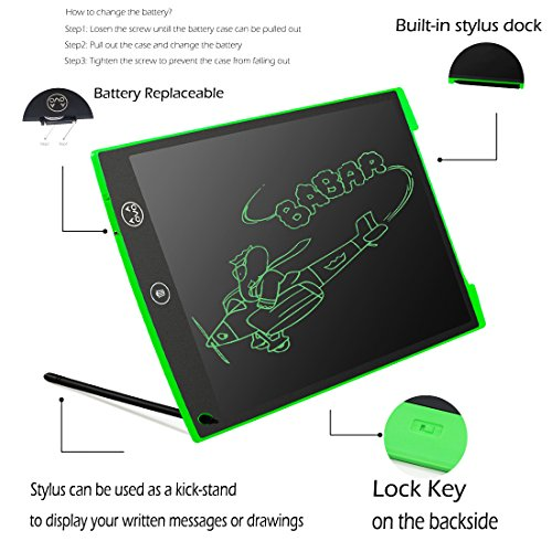 Aovoa 12 Inch LCD Writing Tablet Drawing Board Bulletin Boar