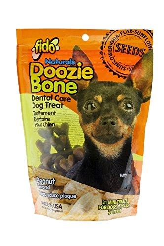 Fido Naturals Doozie Bone – Dental Care Dog Treat, Peanut Flavored, 21ct (Mini Treats) Review