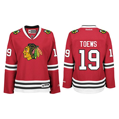 NHL Chicago Blackhawks Jonathan Toews Women's Premier Player Road Jersey, Red, Small