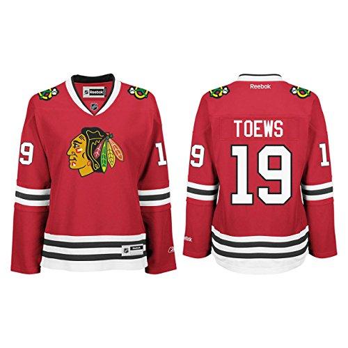NHL Chicago Blackhawks Jonathan Toews Women's Premier Player Road Jersey, Red, Medium (Red Blackhawks Jersey Chicago)