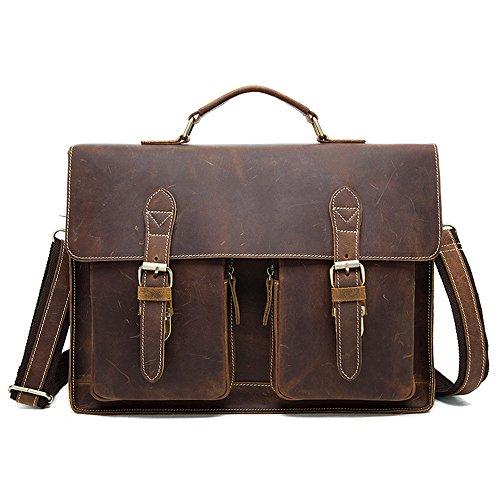 cartella cm nero Gljjmy 39x29 5 tracolla business pelle Borsa a uomo borsetta marrone 5x7 opzionale per colore vintage moda borsa 7AxpUaCwq