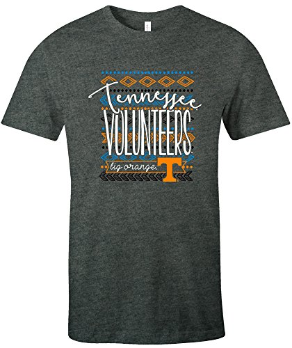 NCAA Tennessee Volunteers Women's Pattern Lines Favorite Short sleeve T-Shirt, Medium,DeepHeather
