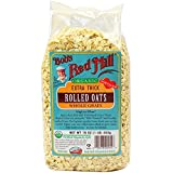Bob's Red Mill Organic Oats Rolled Thick, 16 Ounce (Pack of 4)