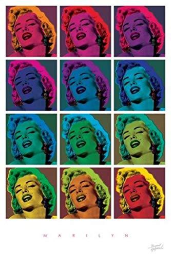 (Pyramid America BoH Marilyn Monroe Pop Art Poster Print)