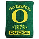 "NCAA Collegiate ""Varsity"" Super Soft Plush Throw Blanket (Oregon Ducks)"