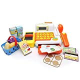 Supermarket cash register with Checkout Scanner, Weight Scale Learning Resources Pretend Role Play for kids by Happytime